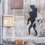 Marseille, le quartier du Panier, un mur  le 13/07/2013