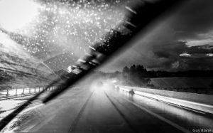 orage sur l'autoroute A71